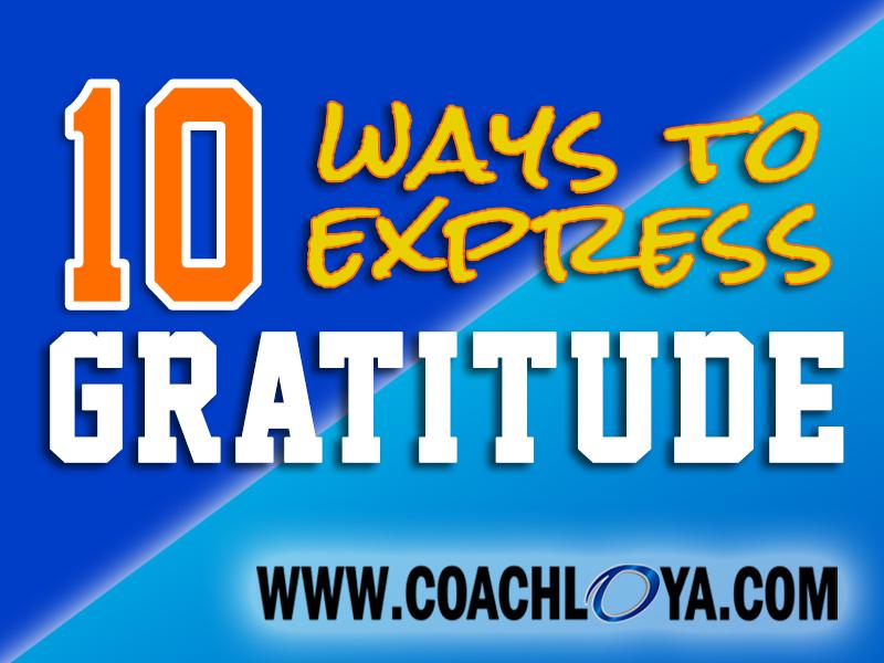 10 Ways to Express Gratitude
